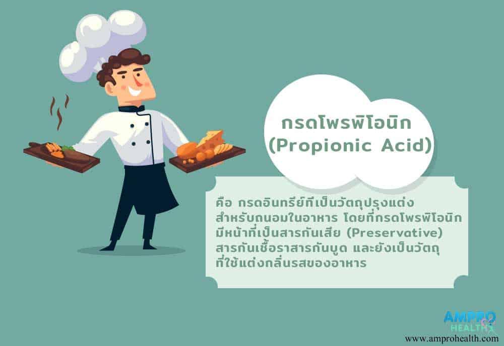 ประโยชน์ของกรดโพรพิโอนิก (Propionic Acid)