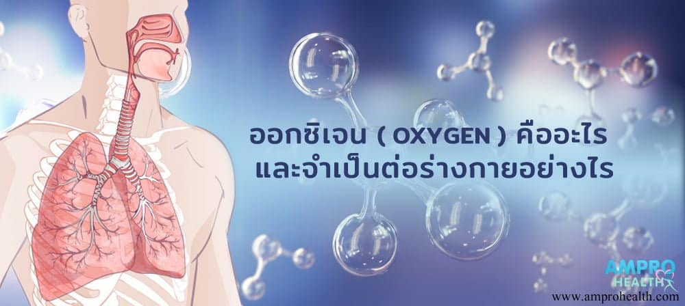 ออกซิเจน (Oxygen) จำเป็นต่อร่างกายอย่างไร ?